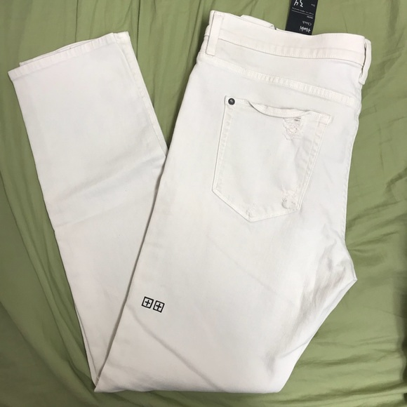 incredible prices low price nice shoes SALE NWT Men's KSUBI chitch white pants